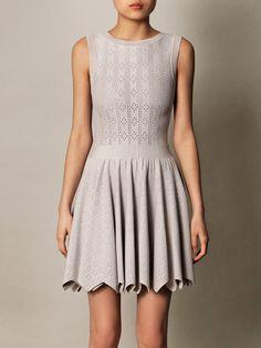 Azzedine Alaïa Mantile perforated zigzag dress for women