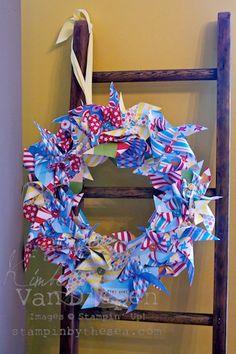 Pinwheel wreath! So cute!#Repin By:Pinterest++ for iPad#