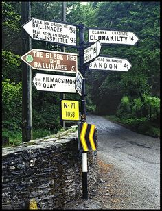 Ireland Countryside - Road Signs - tee hee, bring it on! Love Ireland, Ireland Travel, Highlands, Places To Travel, Places To Visit, County Cork, Irish Eyes, Emerald Isle, Viajes