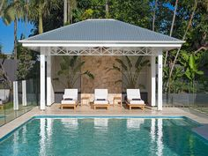 Specializing in Hampton designs — BAASTUDIO Architecture- Building Aesthetic Architecture Hamptons Style Homes, Hamptons House, The Hamptons, Pool Cabana, My Pool, Pool Gazebo, Outdoor Pool, Backyard Patio, Outdoor Spaces