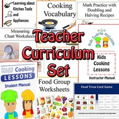 Within our kids cooking lessons are easy and fun kid recipes to teach your kids cooking. We've divided our basic cooking lesson plans into 5 age groups. Kids Cooking Set, Kids Cooking Activities, Kids Cooking Recipes, Kids Meals, Children Cooking, Cooking Games, Lunch Recipes, Dinner Recipes, Healthy Children
