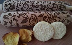 Rolling Pin Laser Cut Embossed Tracery Flover Design by SugaryHome