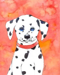 Dalmatian Puppy: Printable Wall Art