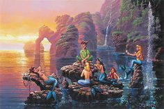 Rodel Gonzalez - Rodel Gonzalez - Peter Pan - Mermaid Lagoon - Original - world-wide-art.com