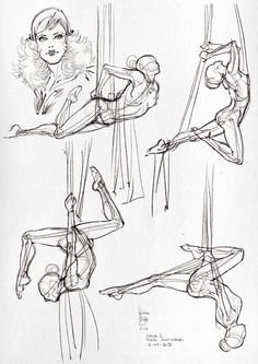 How to Draw the Human Body - Study: Arial Dance Positions for Comic / Manga / Superhero Character Reference