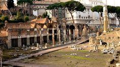 Remain of the Forum of Caesar, Rome, 46 BC.
