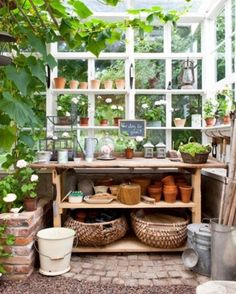 """""""Weekends are perfect for pottering around"""" My dream is the perfect potting shed."""
