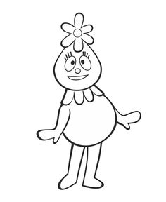 Foofa Coloring Sheet FreePrintable YoGabbaGabba