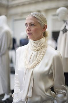 "Christiane Arp - Stylist and editor in chief of the German ""Vogue""."