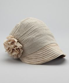 Take a look at this Beige Lili Cap by Grace Hats on #zulily today!