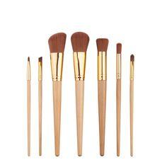 7PCS Make Up Foundation Eyebrow Eyeliner Eye Shadow Blush Set Cosmetic Loose Powder Concealer Brushes Tools