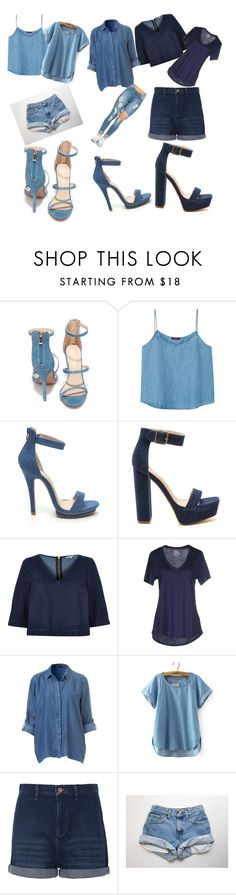 """""""go denim style!"""" by colonkairee on Polyvore featuring Liliana, Violeta by Mango, River Island, Hilfiger Denim and French Connection"""