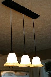 Pendant light kit that allows you to hang 2 or 3 pendant lights from one light outlet (for over our kitchen sink).