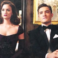 Gossip Girl Chuck and Blair in old Hollywood style---> I like this tux for a wedding lol ;P