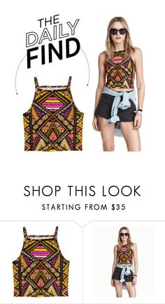 """The Daily Find: H&M Embroidered Crop Top"" by polyvore-editorial ❤ liked on Polyvore featuring H&M and DailyFind"