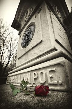 Edgar Allen Poe's final resting place, Westminster Cemetery on Fayette Street in downtown Baltimore.