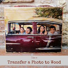How to Transfer a Photo to Wood from craftsunleashed.com I have just the piece of wood I am going to do this on. I will post the results when done.