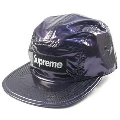 3cba5fd0ee994 SUPREME 16AW Glossy Ripstop Camp Cap BLACK FREE  fashion  clothing  shoes   accessories