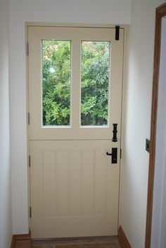 Stable door for back door to Utility