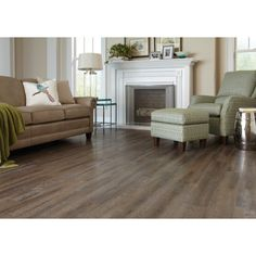 Shop Style Selections 6-in x 36-in Driftwood and Gray Peel-and-Stick Rustic Vinyl Plank at Lowes.com