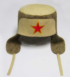 New FELT HAT SAUNA Ushanka Military Hand made wool Russian banya Easter Gift