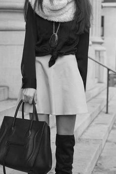 This outfit is so my style. I always do that little tie with my shirt too. Looks Street Style, Looks Style, Style Me, Fashion Blogger Style, Fashion Trends, Mode Chic, Fashion Beauty, Womens Fashion, Net Fashion