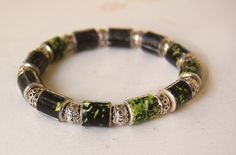 A shady garden captured on paper for this #bracelet