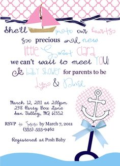 nautical baby shower ideas   Party Box Design: Sweet Nautical Baby Shower and more...