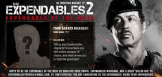 Apply to become 'Expendable of the Week'!    Send us a photo, your nickname (from the Expendables name-generator app: http://on.fb.me/KLuJ8S ) and a brief bio outlining your 'killer skills' for the chance to be featured on the front page! Apply through ExpendableOfTheWeek@gmail.com #TheExpendables2, exploding into theaters August 17th!