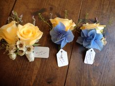 Vintage country chic wedding buttonholes By Shelley Whiting www.facebook.com/theflowercafe