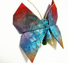 DeviantArt: More Artists Like Origami Bacteriophage by pyrotaku Fabric Origami, Origami Butterfly, Costume Accessories, Quilting, Deviantart, Crafty, Costumes, Artist, Beautiful