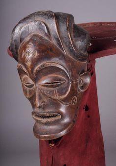 Chokwe Chihongo (Spirit of Wealth) Mask, Angola http://www.imodara.com/item/angola-chokwe-chihongo-spirit-of-wealth-mask/