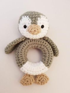 Crochet this adorable playful penguin rattle for your little one! Find this beginner pattern and more amigurumi inspiration at LoveCrochet.Com.