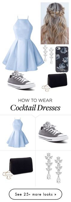 """""""Blue dresses are the best"""" by fashionguru34 on Polyvore featuring Miss Selfridge, Saks Fifth Avenue, Kate Spade and Converse"""