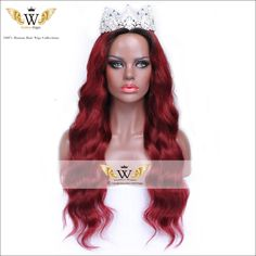 Find More Human Wigs Information about 5A 130 150Density Virgin Brazilian Red Full Lace Human Hair Wigs Glueless Full Lace…