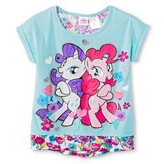Hasbro My Little Pony Girls' Floral Back Tee - Aqua
