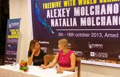 Press conference with Natalya Molchanova