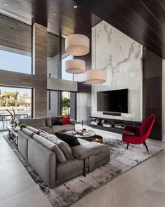 42 Gorgeous Living Room Color Ideas for Every Taste &; Best Paint Colors 6 42 Gorgeous Living Room Color Ideas for Every Taste &; Living Room Tv, Living Room Colors, Living Room Lighting, Living Room Interior, Home Interior Design, Luxury Interior, Design Homes, House Lighting, Design Interiors