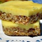 Raw Nut Free Lemon Bars... definitely want to try these...