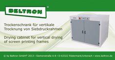 Trockenschrank für vertikale Trocknung von Siebdruckrahmen