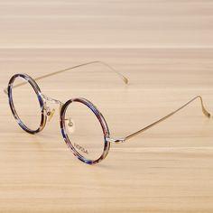 f1874ba9269 NOSSA Metal Round Glasses Frame Alloy Eyeglasses Frames Women   Men s  Fashion Optical Glasses Frame Retro Elegant Myopia Frames  Affiliate