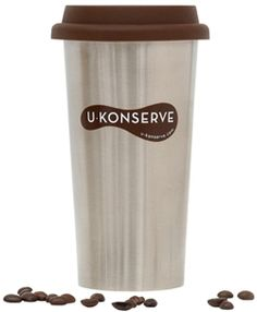 U Konserve's Stainless Steel Coffe Cup (Re) keeps coffee and tea hot, and iced drinks chilled, for hours! The food-grade silicone lid is a healthy alternative to plastic for covering hot beverages, and is very durable and heat-resistant. With this #reusable cup, you will help reduce the 23 billion coated paper or Styrofoam coffee cups that end up in landfills every year with this reusable alternative.