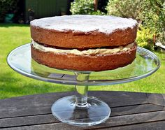 Victoria Sponge Sandwich, Cake, British, Traditional afternoon tea