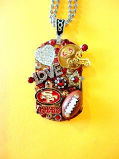 San Francisco 49ers Dog Tag Pendant Number 708 by BradosBling. , via Etsy.