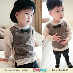 20ab43dadad1 Beautiful Designer Baby Boys Sweater in Crochet Pattern | Kids Knitted  Sweater for Winter | Children