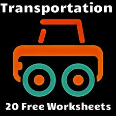 Twenty Free Transportation Worksheets to teach children about different types of transportation. Free!