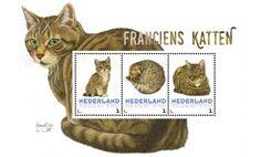 Postzegelset Franciens Katten