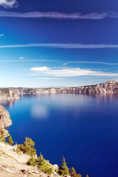 Crater Lake, Oregon ... when we went, I could not believe the color of the water.