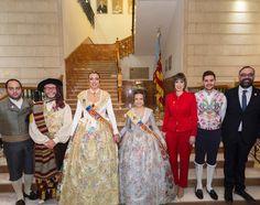 Amb les Falleres Majors i el Pregoner, Víctor Cucart, després de la Crida.  http://www.josemanuelprieto.es