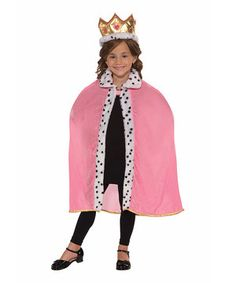 Look at this #zulilyfind! Forum Novelties Pink & Gold Queen Dress-Up Set - Girls by Forum Novelties #zulilyfinds